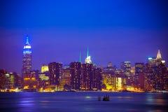 NYC-horisont Arkivfoton