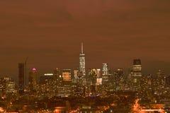 NYC-horisont arkivfoto