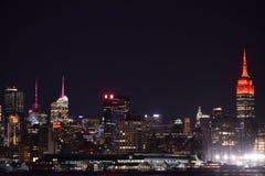 NYC-horisont Fotografering för Bildbyråer