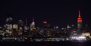NYC-horisont Royaltyfri Foto