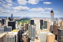 NYC-horizon vanaf Bovenkant van de Rots Royalty-vrije Stock Foto