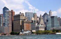 NYC: Horizonte del Lower Manhattan Imágenes de archivo libres de regalías