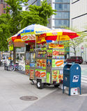 NYC hot dog stand Stock Photography