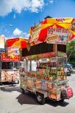 NYC Hot Dog Vendor Stock Photo