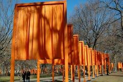 NYC: I portoni dall'artista Christo Fotografia Stock Libera da Diritti