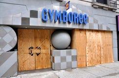 NYC: Imbarcato sulla stanza frontale di negozio Immagine Stock Libera da Diritti