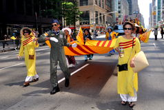 NYC: International Immigrants Foundation Parade Stock Photo