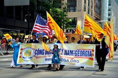NYC: International Immigrants Foundation Parade Royalty Free Stock Images