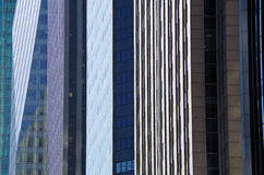 NYC intersecting high-rise buildings architectural background Royalty Free Stock Images
