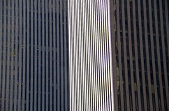 NYC intersecting high-rise buildings architectural background Stock Image