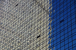 NYC intersecting high-rise buildings architectural reflections Stock Image