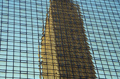 NYC intersecting high-rise buildings architectural reflections Stock Photos