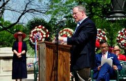 NYC: Interventor Scott Stringer en las ceremonias de Memorial Day Foto de archivo libre de regalías