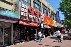 NYC: Jamaica Avenue Stores Royalty Free Stock Photo