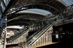 NYC: Jamaica gör till drottning LIRR-stationen Arkivbild