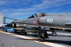 NYC: Jet Aircraft på U.S.S. Intrepid Museum Royaltyfria Bilder