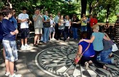 NYC: John Lennon Imagine Mosaic Stock Photos