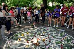 NYC: John Lennon Imagine Mosaic Stock Image