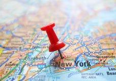 NYC-kaart Stock Foto's