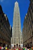 NYC:  Kanalträdgårdar på den 30 Rockefeller mitten Royaltyfria Foton