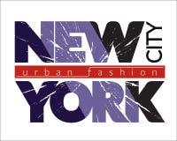 NYC koszulki grunge Obraz Stock