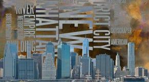 NYC krajobraz Obrazy Royalty Free