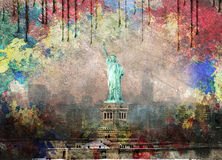 NYC krajobraz Obrazy Stock