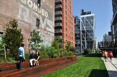 NYC: La alta línea parque Imagen de archivo libre de regalías
