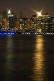 NYC la nuit photos libres de droits