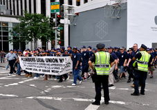 NYC:  Labour Day Parade Marchers Royalty Free Stock Photo