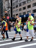 NYC: Labour Day Parade Marchers Stock Photos