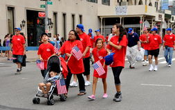 NYC: Labour Day Parade Marchers Royalty Free Stock Photography