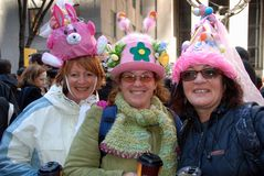 NYC: Ladies at the Easter Parade Royalty Free Stock Photo