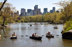 NYC: Lago boating del Central Park Fotografia Stock Libera da Diritti