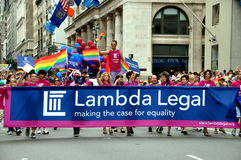 NYC: Lambda Legal at Gay Pride Parade Royalty Free Stock Photography