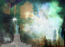 NYC Landscape. New York City Landscape with Landmarks Stock Images