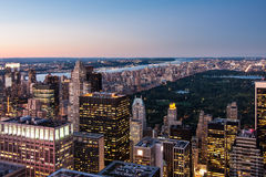 New York City Landscape. A view of NYC and Central Park Stock Image
