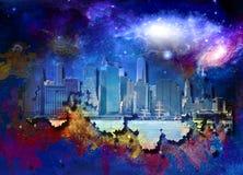 NYC-Landschaft lizenzfreie abbildung
