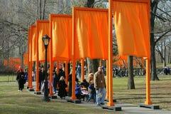 NYC: Las puertas por Christo en Central Park Foto de archivo libre de regalías