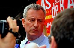 NYC: Leading Mayoral Candidate Bill DeBlasio Royalty Free Stock Image
