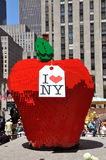 NYC: LEGO Apple at Rockefeller Center Royalty Free Stock Image