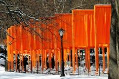 NYC : Les portes par Christo dans le Central Park Image libre de droits