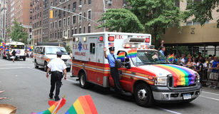 NYC LGBT Gay Pride March 2010 Royalty Free Stock Images