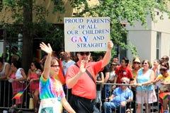 NYC LGBT Gay Pride March 2010 Stock Image