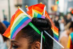 NYC LGBT Pride March 2018 Immagine Stock
