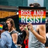 NYC LGBT Pride March 2018 Fotografie Stock