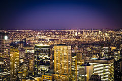 NYC Lights Royalty Free Stock Photography
