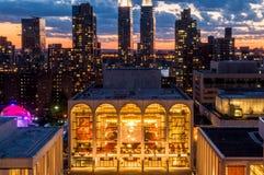 NYC Lincoln Center Metropolitan Opera House Lizenzfreie Stockfotografie