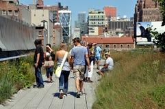 NYC: A linha elevada parque Fotos de Stock Royalty Free