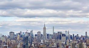 NYC linia horyzontu z Empirowym stanem Building_02 obraz stock